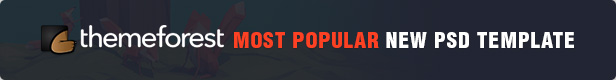 themeforest's most popular new psd template