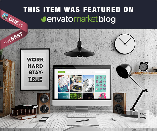 thefox was featured on Envato Market Blog