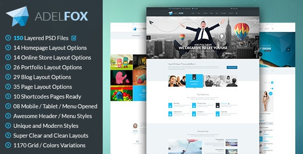 AdelFox | Multi-Purpose PSD Template