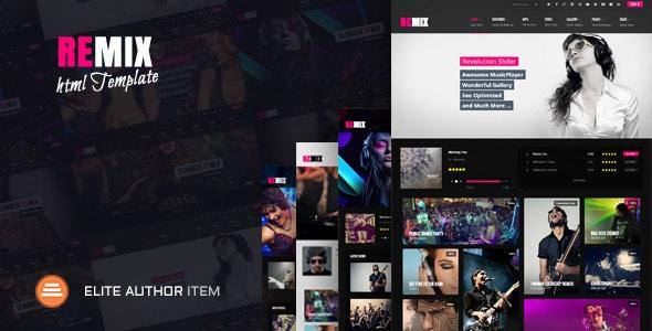 Remix Music - HTML5 Music