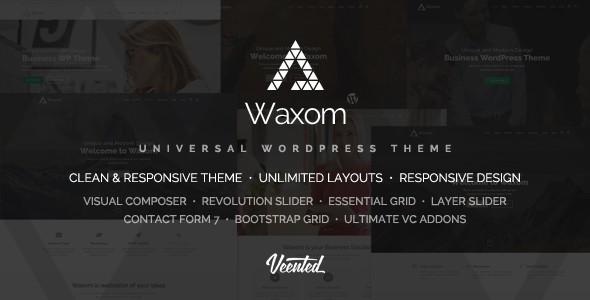 Waxom - Clean & Universal WordPress Theme