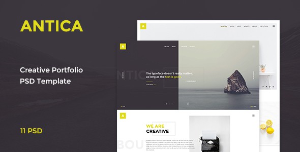Antica — Multipurpose Business Agency & Personal Portfolio PSD Template
