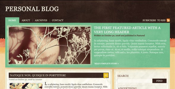 Blog, News, magazine & Portfolio theme