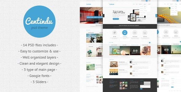 Centindu - clean and modern PSD template