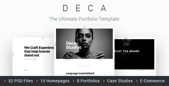 DECA - Creative Multi Concept Portfolio Template