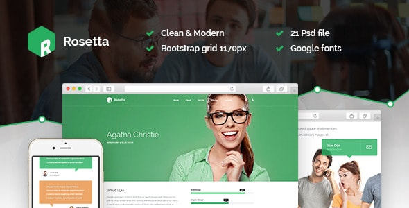 Rosetta - Multipurpose PSD Template