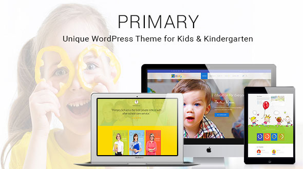 Primary - Kids and School WordPress Theme   Education Material Design WP