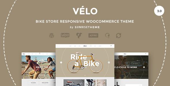 velo bike shop ecommerce theme