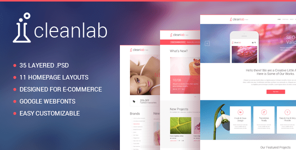 Clean Lab - Multi-Purpose PSD Template