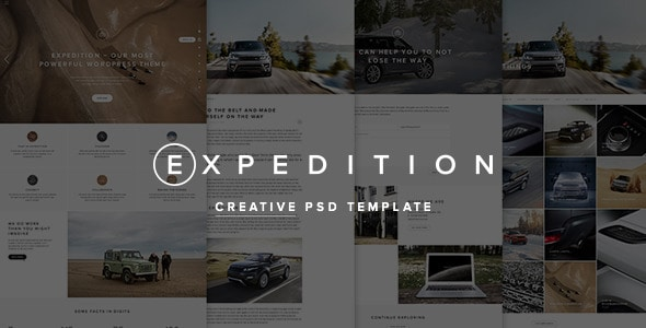 Expedition Creative PSD Template