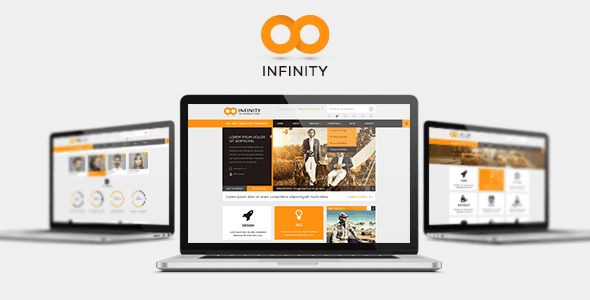 INFINITY  |  Flat PSD Template