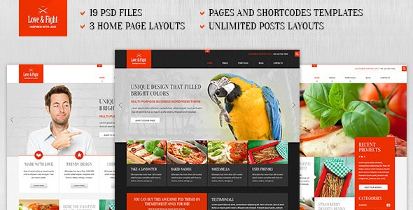Love&Fight - Business PSD Theme