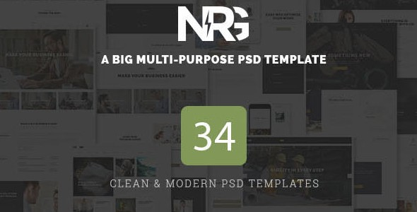 NRG - A Big Multi-Purpose PSD Template