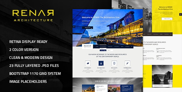 Renar - Premium Architect PSD Template