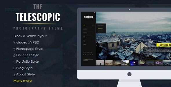 Telescopic - Fullscreen Photography PSD Template