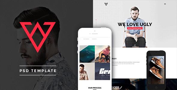 Viska - Creative One Page PSD Template