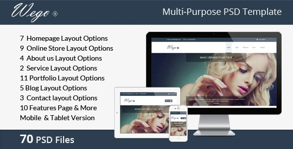 Wego | Multi-Purpose PSD Template