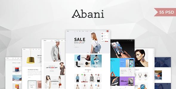 Abani – Multi Purpose eCommerce PSD Template
