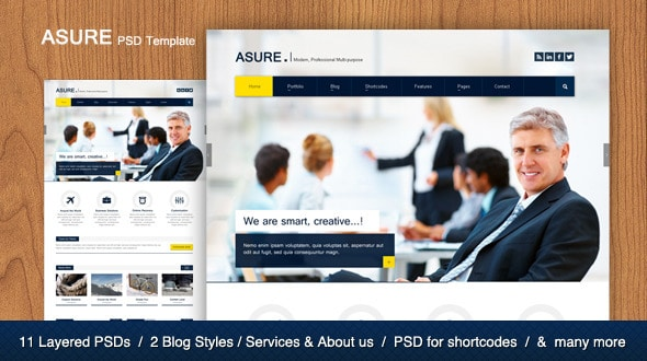 ASURE - Multi Purpose PSD Template