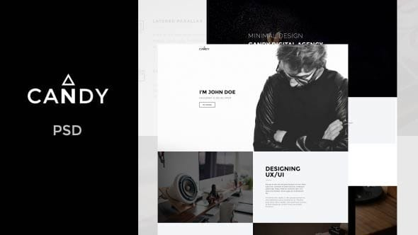 Candy | One Page PSD