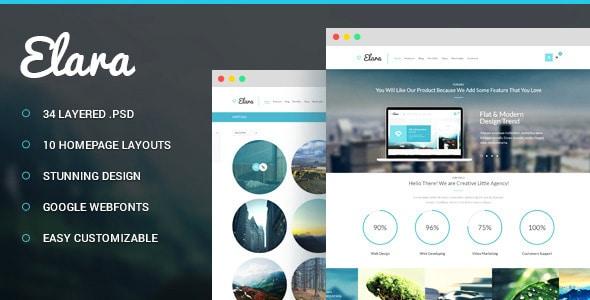 Elara - Multi-Purpose PSD Template