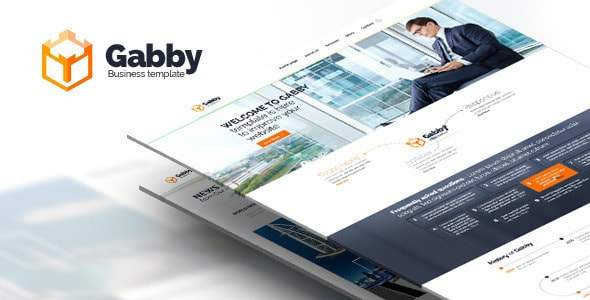 Gabby - PSD website. Desktop and Mobile version