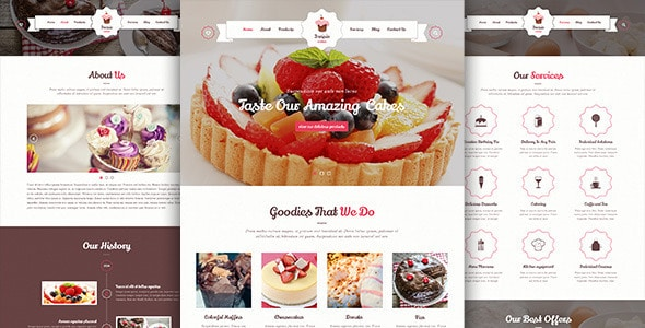 Invisio Cake - Sweet PSD Template