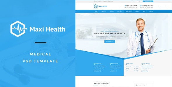 Maxi Health : Medical & Health PSD Template