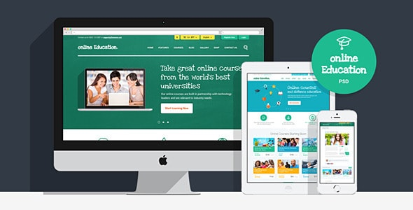 Online Education | PSD Template