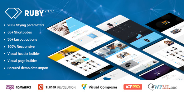 ruby wordpress theme for business and portfolio