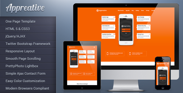 Appreative Responsive Landing Page