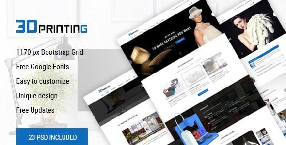 3D Printing - 3D Print & Scan Technology Template