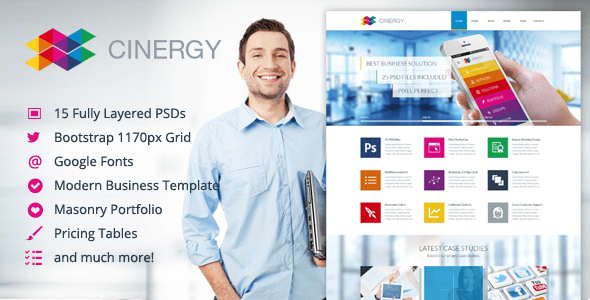 Cinergy - Modern Business Template