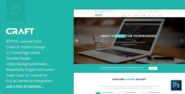 Craft | Multi-Purpose PSD Template