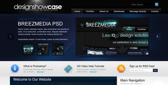 DesignshowCase - Portfolio PSD Template