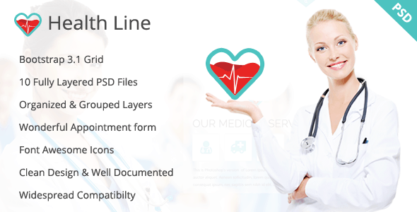 Health Line - Medic PSD Template