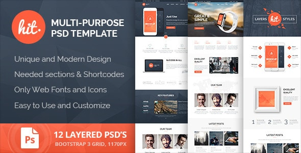 HIT - Multi-Purpose PSD Template