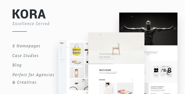 Kora - Portfolio Template for Agency & Freelancers