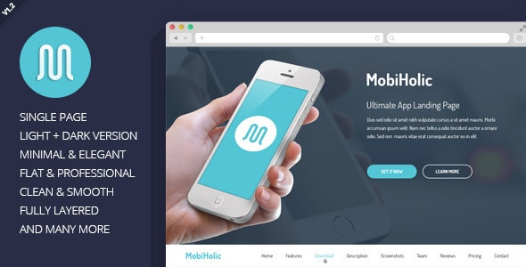 MobiHolic - Ultimate App Landing Page Template