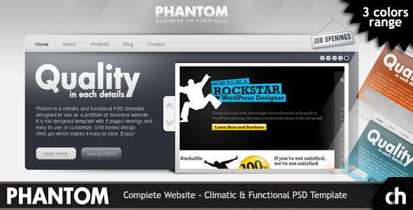 PHANTOM - Climatic & Functional PSD Template
