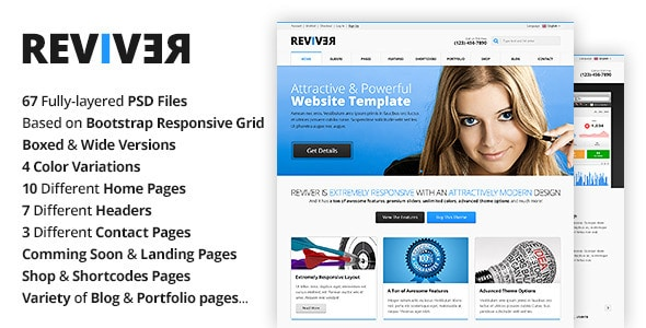Reviver - Multi-Purpose PSD Template