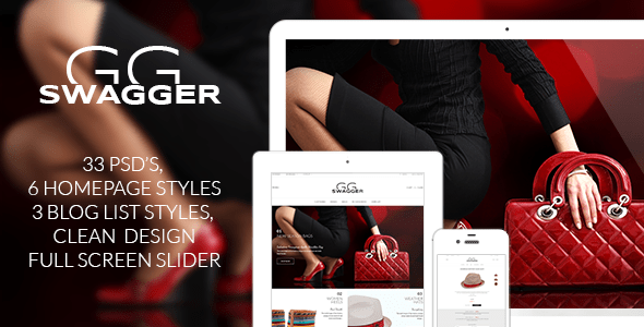 SWAGGER - Modern Shop PSD Template