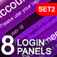 8 Modern & Web 2.0 Login/Signup Panels (SET 2) - GraphicRiver Item for Sale