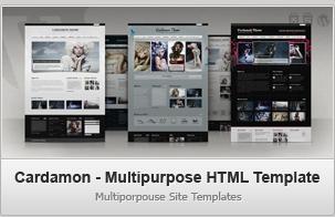 Cardamon HTML – Multiporpouse Site Templates