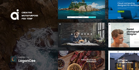 AI | Creative Multipurpose PSD Template