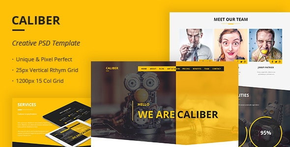 Caliber - Creative Multi Purpose PSD Template
