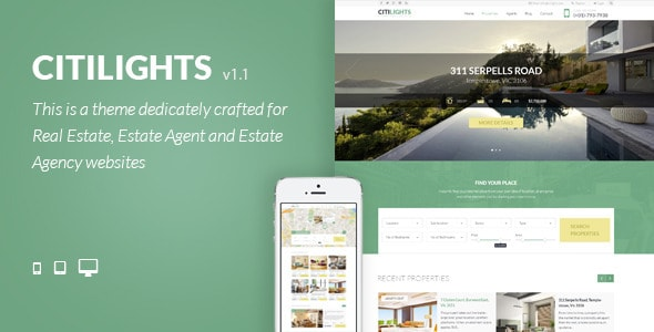 CitiLights - Real Estate PSD Template