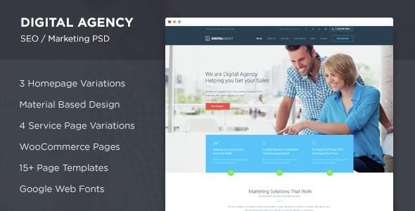 Digital Agency - SEO / Marketing PSD