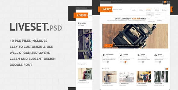 Liveset - Modern and Clean PSD Theme