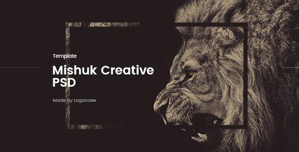 Mishuk - Creative PSD Template
